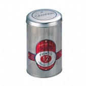 mesh round wine tin box