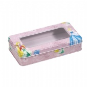 Disney rectangular PVC window watch tin box