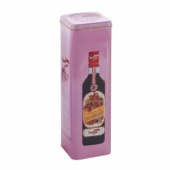 square tin box for wine bottle packing
