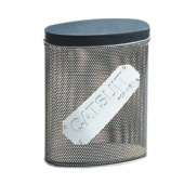 mesh oval wine tin box with emboss logo