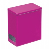 rectangular biscuit tin box with window