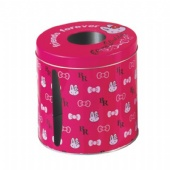 cute round tissue tin box
