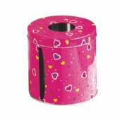 lovely round tissue tin box