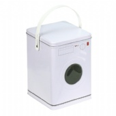 washing machine shaped biscuit tin box with handle