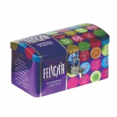 Felicita rectangular storage coin tin box