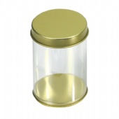 biscuit tin box with clear pvc side