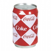 COCA-COLA round saver tin box