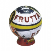 FRUTTA globe Coin Money Saving Tin Box