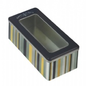 biscuit tin box with clear window