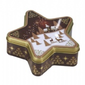 star shaped biscuit tin box