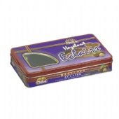 Rectangula chocolate tin box