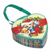 cartoon heart Valentine Tin Box with handle