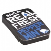 Personalized black rectangular Candy Tin