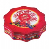 Flower shaped Candy Tin with domed lid
