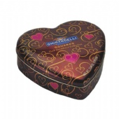 brown GHIRARDELLI heart Valentine Tin Box