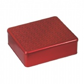 3D embossed rectangular chocolate tin box