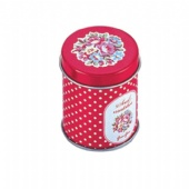 small round candy tin