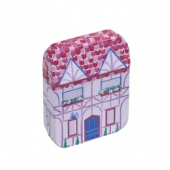 mini house shaped Halloween Tin Box
