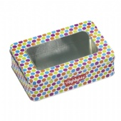 candy tin box with clear lids