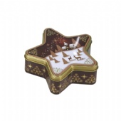 star shaped chocolate tin box