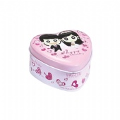 mini heart shaped Wedding Gift Tin Box