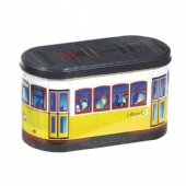 bus shaped promotional tin box