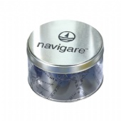navigare round tin box with PET Body