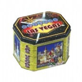 las vegas Octagonal Tin Box for christmas