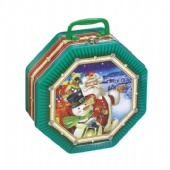 Christmas Octagonal Tin Box