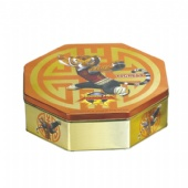 KUNG FU TIGRESS Octagonal Tin Box