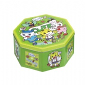hello cartoon Octagonal Tin Box