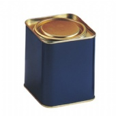 square candy tin box with Lever Lid