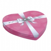 Pink Heart Gift Tin Box with embossing