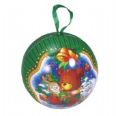 Christmas ball tin box
