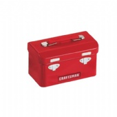 Red CRAFTSMAN tool Treasure Chest Tin Box