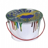 Tin bucket with handle