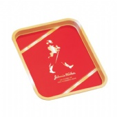 Red JOHNNIE WALKER Rectangular tin tray