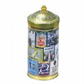 domed lid round candy tin box