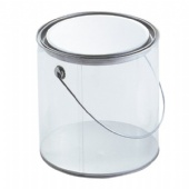 Round Clear PVC Sided Tin bucket