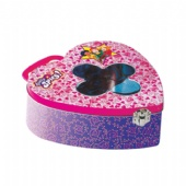 totally spies flower shaped window heart tin box