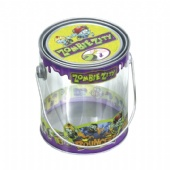 Printed PET Tin Pail with metal Printed lid and handle