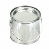 Clear Paint Can, PVC Bucket, Clear Pails, PVC and PET Tin Can Buckets