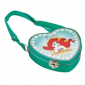 Disney heart shaped handle tin box
