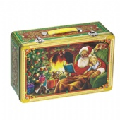 Christmas tin lunch Box