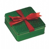 square Christmas fancy soap tin box