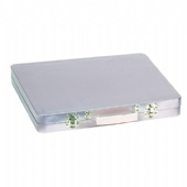 double lid rectangular tin case with handle
