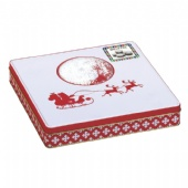 Christmas gift packaging square tin box