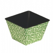 green square candy tin bucket
