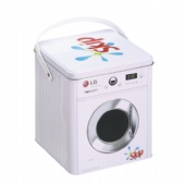 washing machine shaped chocolate tin box