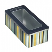 rectangular window chocolate tin box